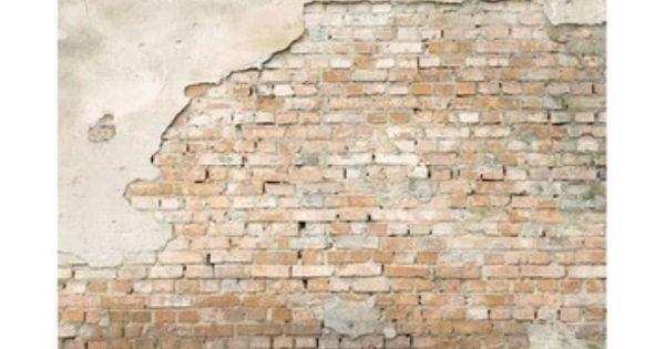 Behang stenen muur huis slaapkamer s pinterest muur stenen en vader - Interieur decoratie stenen huis ...