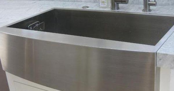 main sink 36 ss farmhouse w apron front single bowl flushmount
