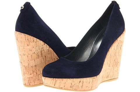 Stuart Weitzman Corkswoon in Navy Blue. I don't expect to get these