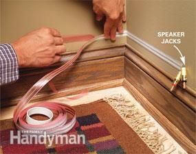 How To Hide Wiring Speaker And Low Voltage Wire Hidden Wiring Home Theater Wiring Home Theater