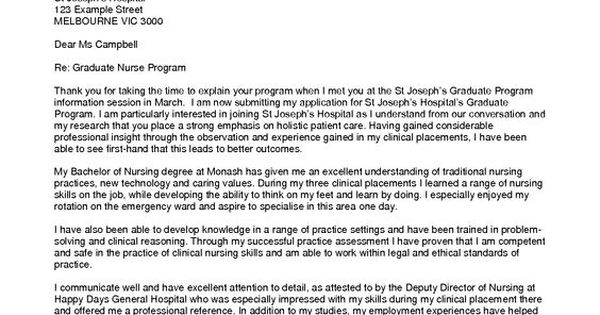 new grad nurse cover letter example Sample Cover Letter Nursing - graduate nursing cover letter