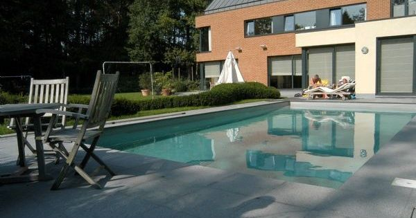 Beltrami natuursteen natural stone granite graniet pepperino dark gevlamd pepperino dark - Outdoor decoratie zwembad ...