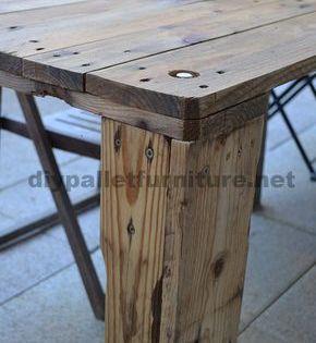 Wie Leicht Eine Tabelle Mit Einer Europalette 4 Paletten Tisch Esstisch Bank Tisch