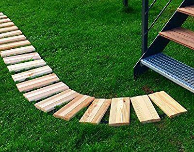 Boogardi Rollweg Breite 25 Cm Lange 250 Cm Rollbarer Gartenweg Aus Robuster Kiefer In 2 Grossen Als Laufsteg Fur Garten Und Bee Draussen Gartenweg Garten
