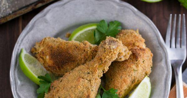 Chicken drumsticks, Baked chicken drumsticks and Breaded baked chicken ...