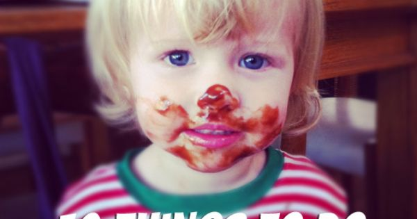 10 things to do with a 2 year old  love the idea of