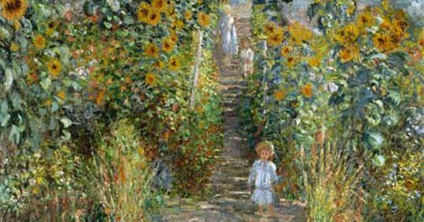 Claude monet jardin de l 39 artiste v theuil art for Artistes de jardin