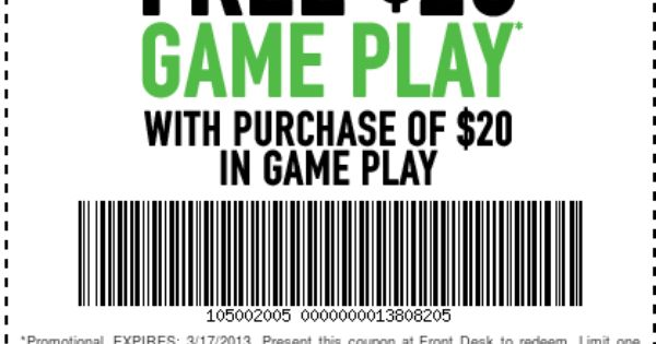 $20 free game play dave and busters