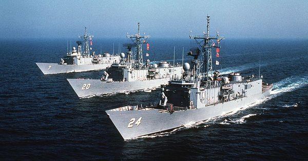 The U.S. Navy Guided Missile Frigates USS Oliver Hazard