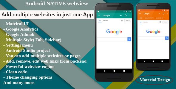 Multi Web App Android Native Webview Webtoapp Template With