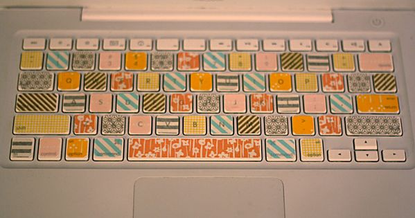 Make your own key covers with washi tape. I would use different
