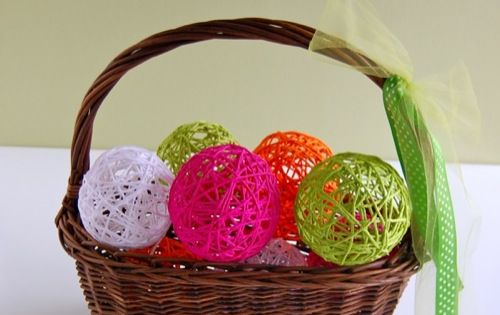 To make Fun Easter Eggs! Put candy in small balloon, make glue