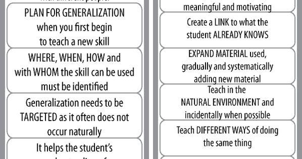Autistic Generalization