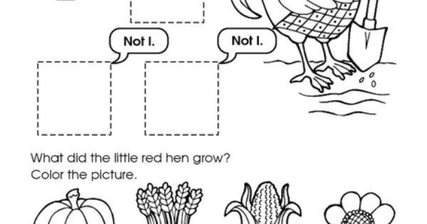 Little Red Hen activity The Little