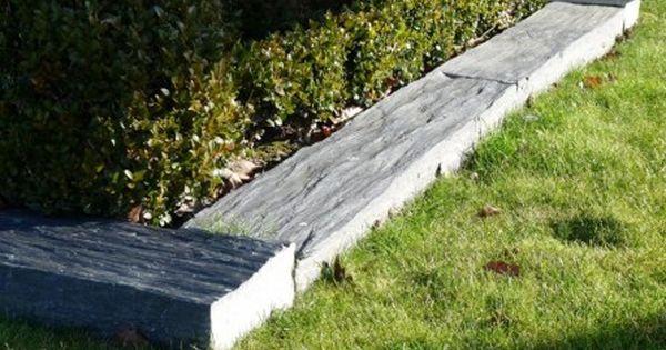 Bordure En Schiste Longueur 100 Cm Bca Materiaux Anciens Bordure Jardin Bordure Ardoise Salon De Jardin Exterieur