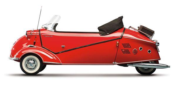 """Sold Messerschmitt Kr200 3 Wheeler Microcar Auctions: 1957 Messerschmitt KR200 Kabinenroller. """"This (Cabin"""