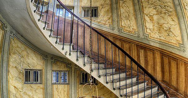Stairway of Galerie Vivienne, Paris, France