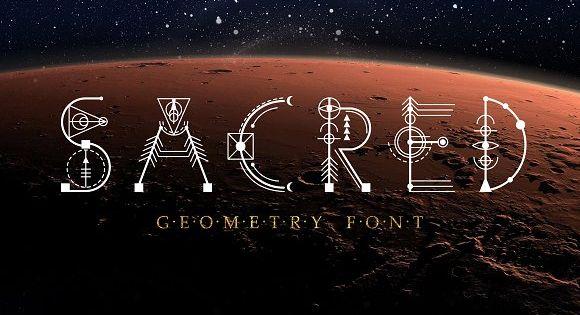 Sacred Geometry Font – unique decorative font based on the sacred symbols
