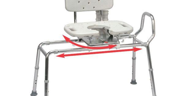 Swivel Seat Sliding Bath Transfer Bench