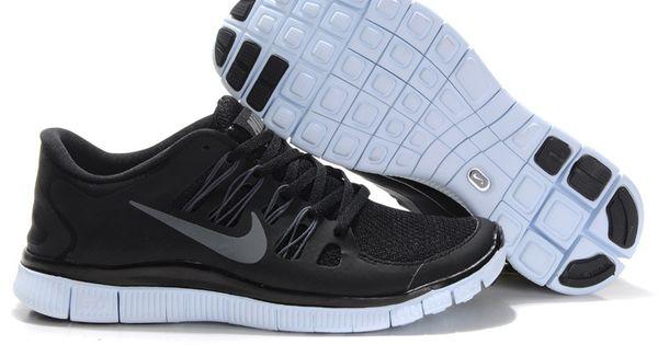 newest d8cf3 74cb8 ... Nike Free 5.0+ Black Metallic Silver Dark Grey White Womens Shoe    Cheap Running Shoe ...