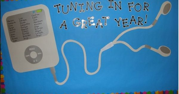 iPod Bulletin Board Ideas | Back to School Bulletin Board. Write students