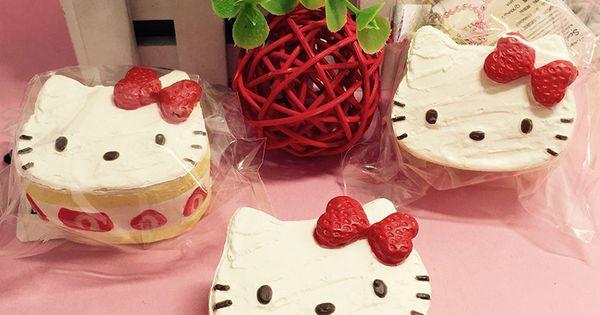 Pastel Cakes Squishy Tag : Cute Hello Kitty Strawberry Cake Squishy 5pcs/lot Small Squishies Wholesale Fashion Kawaii Cell ...