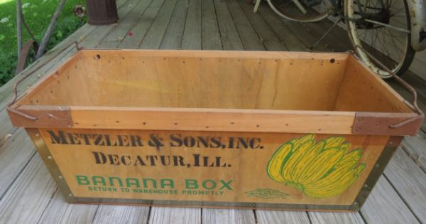 Vintage Wooden Banana Box Crate Crates Vintage And Etsy