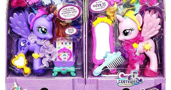 My Little Pony Exclusive Canterlot Figure 2pack Fashion Style Princess Luna Princess