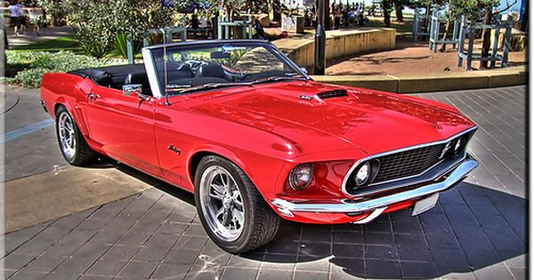 1969 Ford Mustang Convertible Mustang Convertible Red Mustang