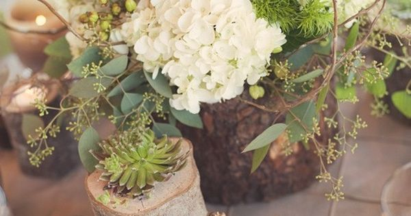 gorgeous rustic centerpieces by janis