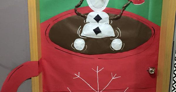 Christmas Door Decoration For A Classroom Olaf In A Mug