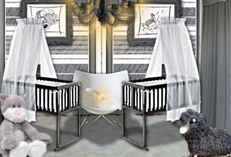 Id E D Co Une Chambre De B B Douce Et Chic Pour Des Jumeaux Jumeaux Chambres De B B Et