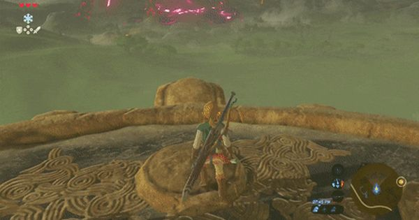 Link Getting Sniped By A Guardian In Breath Of The Wild Holy Cow