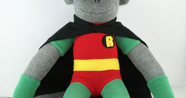 'Robin' the Sock Monkey (Superhero) - **Made to Order ...