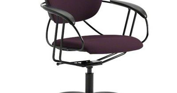 Steelcase Uno Mid Back Desk Chair Upholstery Color: Buzz2   Eggplant,  Casters / Glides: Standard Glides | Chair Upholstery And Products