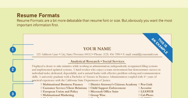 Resume Fonts Resume Styles Infographic Resume Fonts, Size and - resume font size