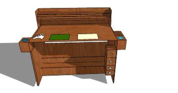 Miniature Painting Desk Quot Desk To Hold Paints Brushes