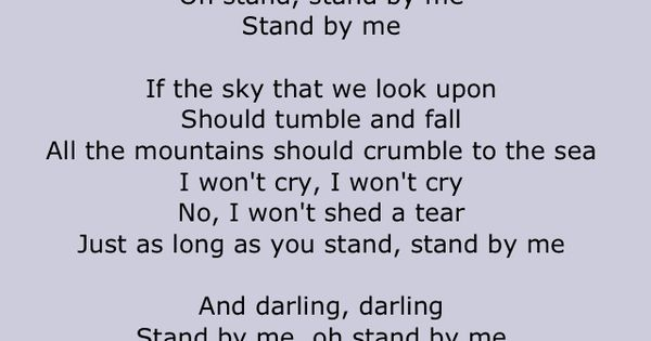 Stand by me movie lyrics