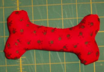 Sewing For Your Dog You Can Make A Fabric Squeaker Dog Bone Toy