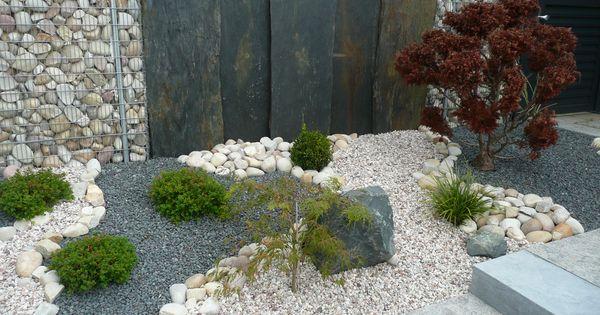 jardin min ral et v g tal jardin min ral parterre avec cailloux pinterest jardin mineral. Black Bedroom Furniture Sets. Home Design Ideas
