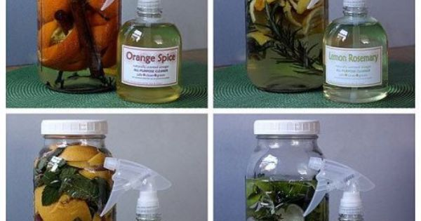 How to Make Naturally Scented All Purpose Citrus Vinegar Cleaners Recipes