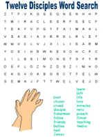 Twelve Disciples Word Search Puzzles Bible Lessons For Kids Sunday School Printables Sunday School Activities