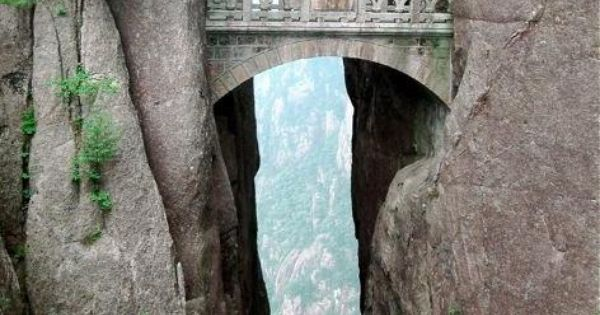 Bridge of Immortals in China. It's the highest bridge in the world.