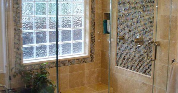 Glass block window shower design pictures remodel decor for Glass block window design ideas
