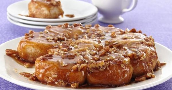 Easy Caramel Sticky Buns I use cinnamon rolls instead of biscuits My
