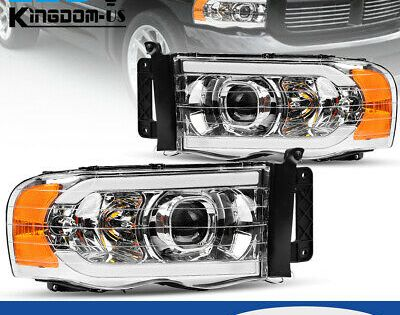 For 2002 2005 Dodge Ram 1500 2500 3500 Truck Led Drl Projector Headlights Lamps Dodge Ram 1500 Accessories Dodge Ram Dodge Ram 1500