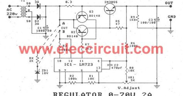 Variable Power Supply Circuit 0 50v At 3a With Pcb Eleccircuit