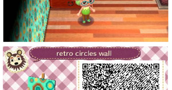 Retro Circles Wall By Quirkberry Animal Crossing New