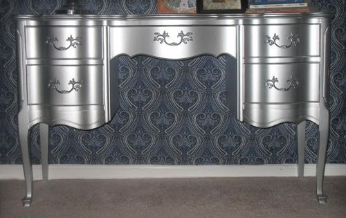 Wow Using Rustoleum S Metallic Aluminum Enamel Paint By