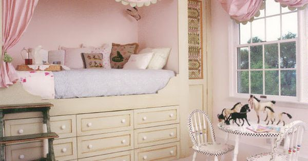 little girls bedroom design with built in beds and daybeds and great